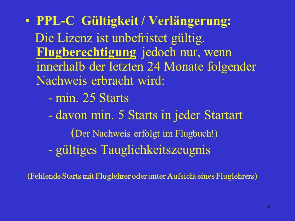 PPL-C Gültigkeit / Verlängerung: