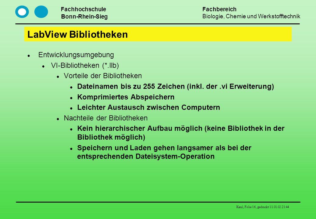 LabView Bibliotheken Entwicklungsumgebung VI-Bibliotheken (*.llb)