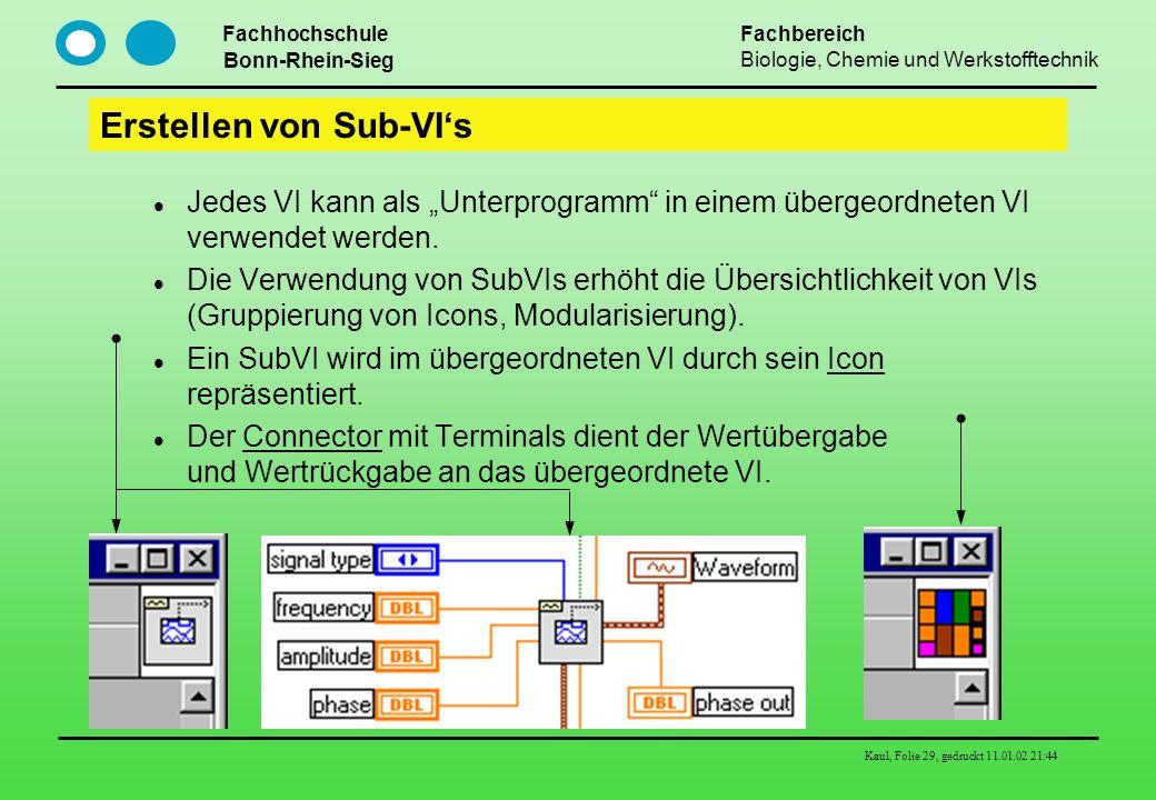 Erstellen von Sub-VI's