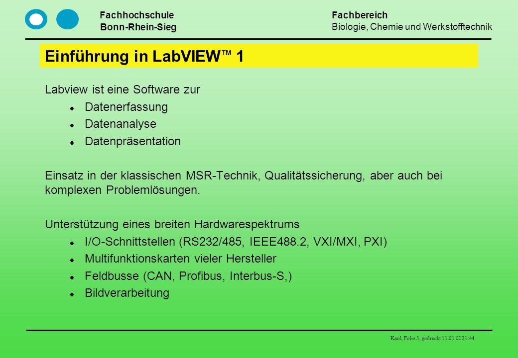 Einführung in LabVIEWTM 1