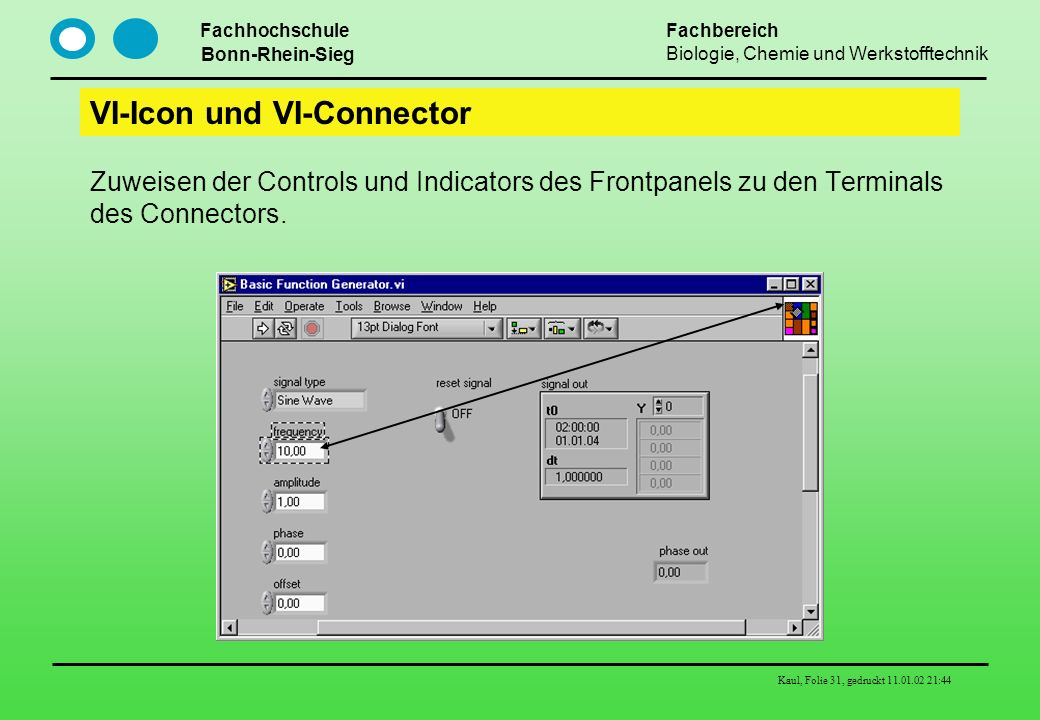 VI-Icon und VI-Connector
