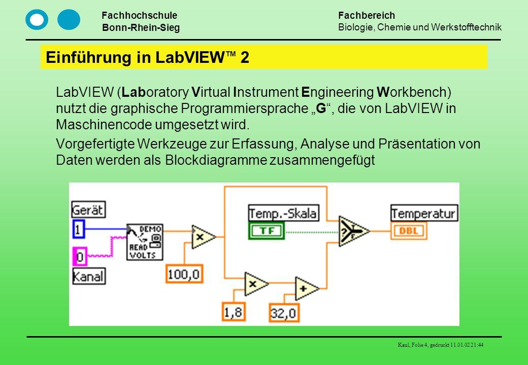 Einführung in LabVIEWTM 2
