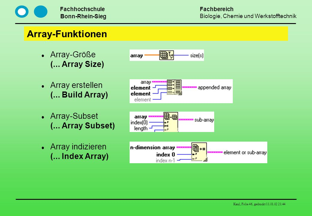 Array-Funktionen Array-Größe (... Array Size)