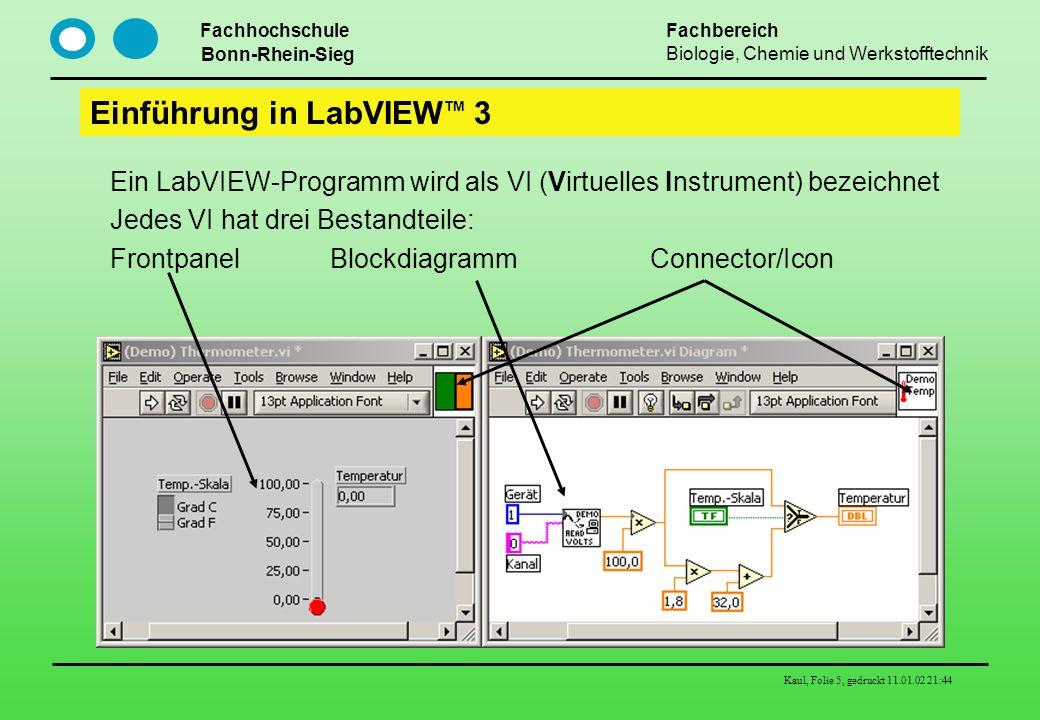 Einführung in LabVIEWTM 3