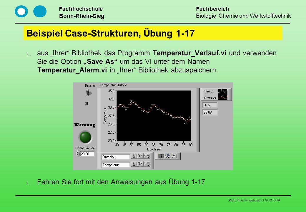 Beispiel Case-Strukturen, Übung 1-17