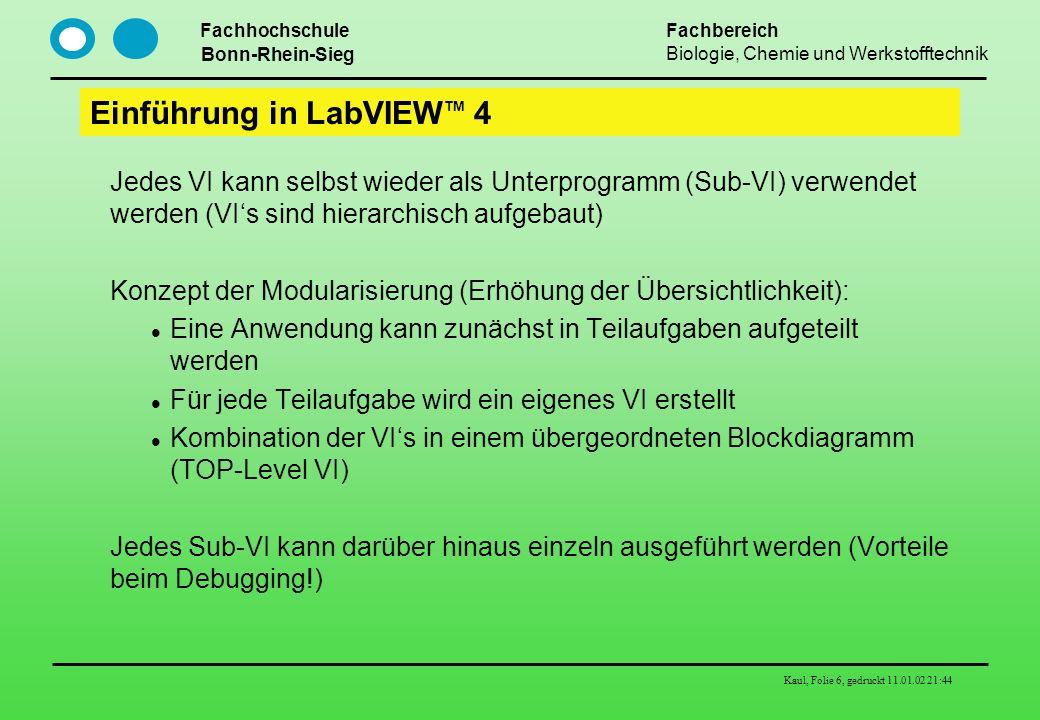 Einführung in LabVIEWTM 4