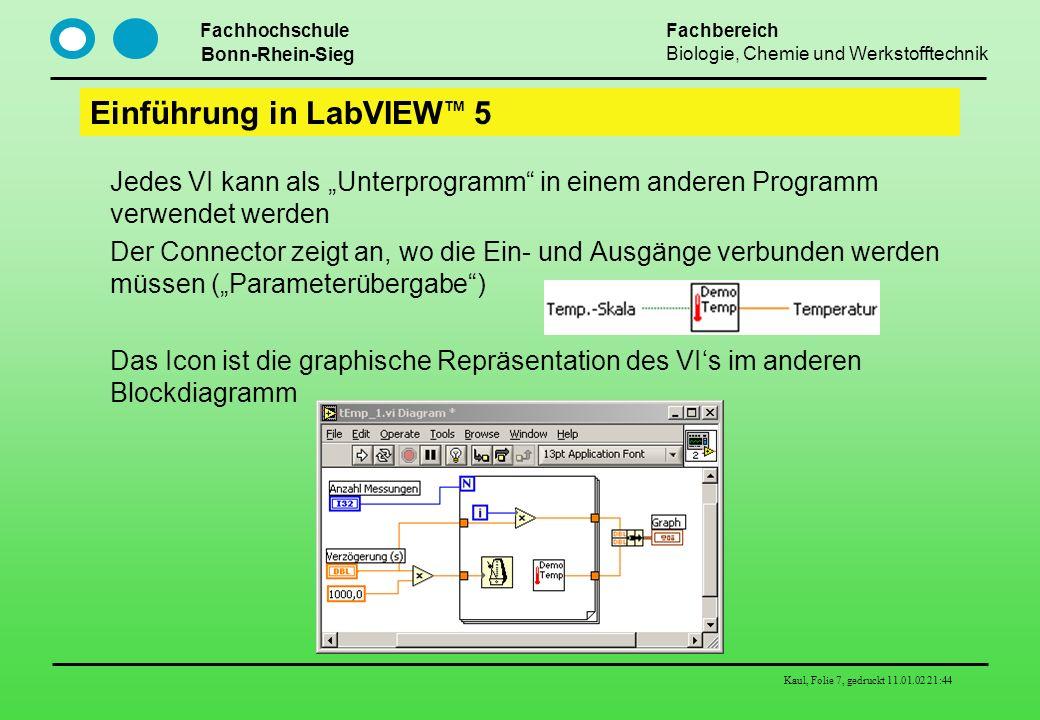 Einführung in LabVIEWTM 5