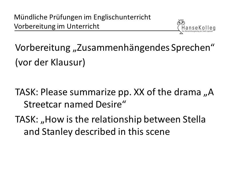Mündliche Prüfungen im Englischunterricht Dagmar Keatinge ...