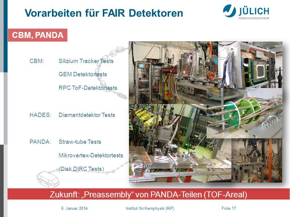 """Zukunft: """"Preassembly von PANDA-Teilen (TOF-Areal)"""