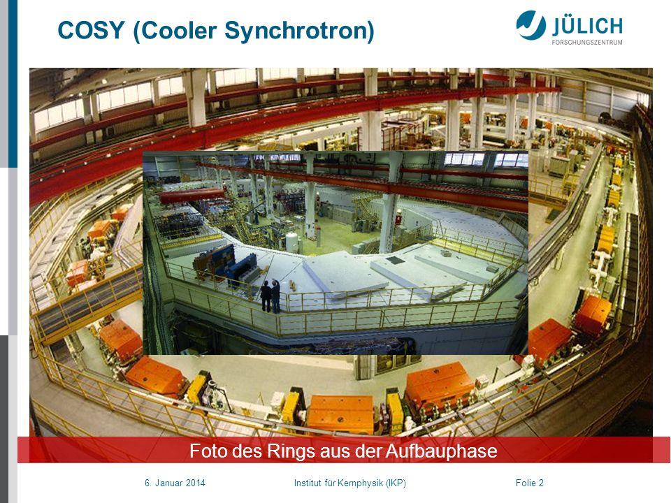 COSY (Cooler Synchrotron)