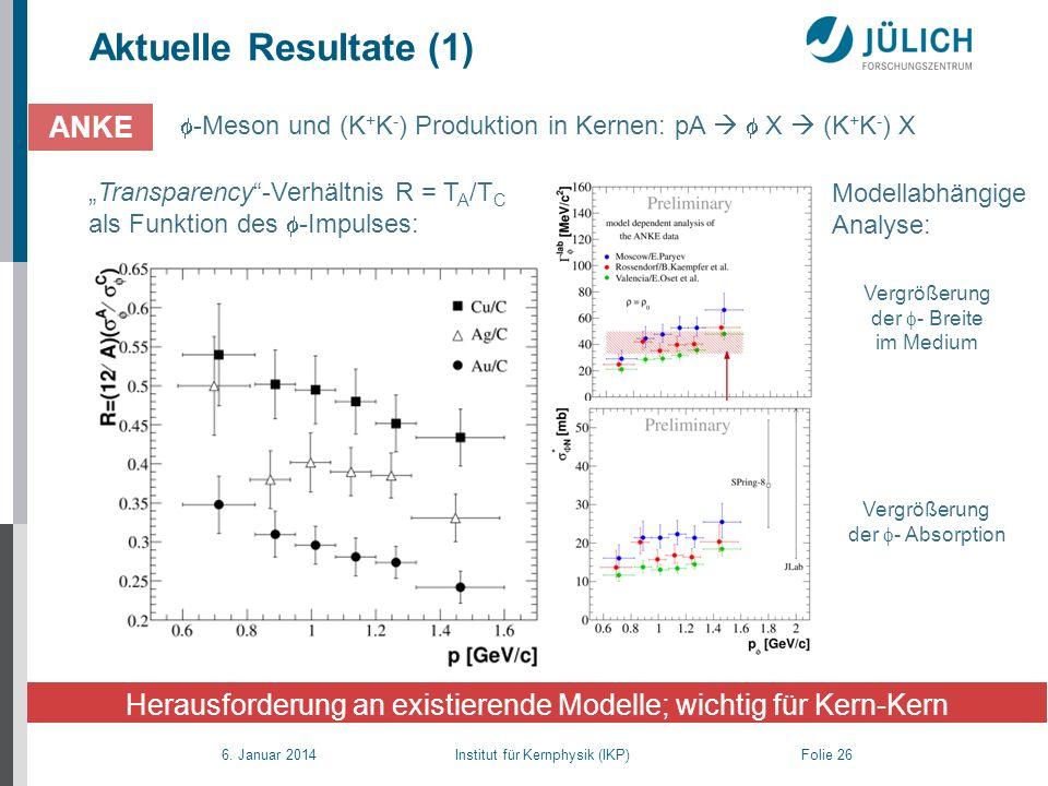 Herausforderung an existierende Modelle; wichtig für Kern-Kern