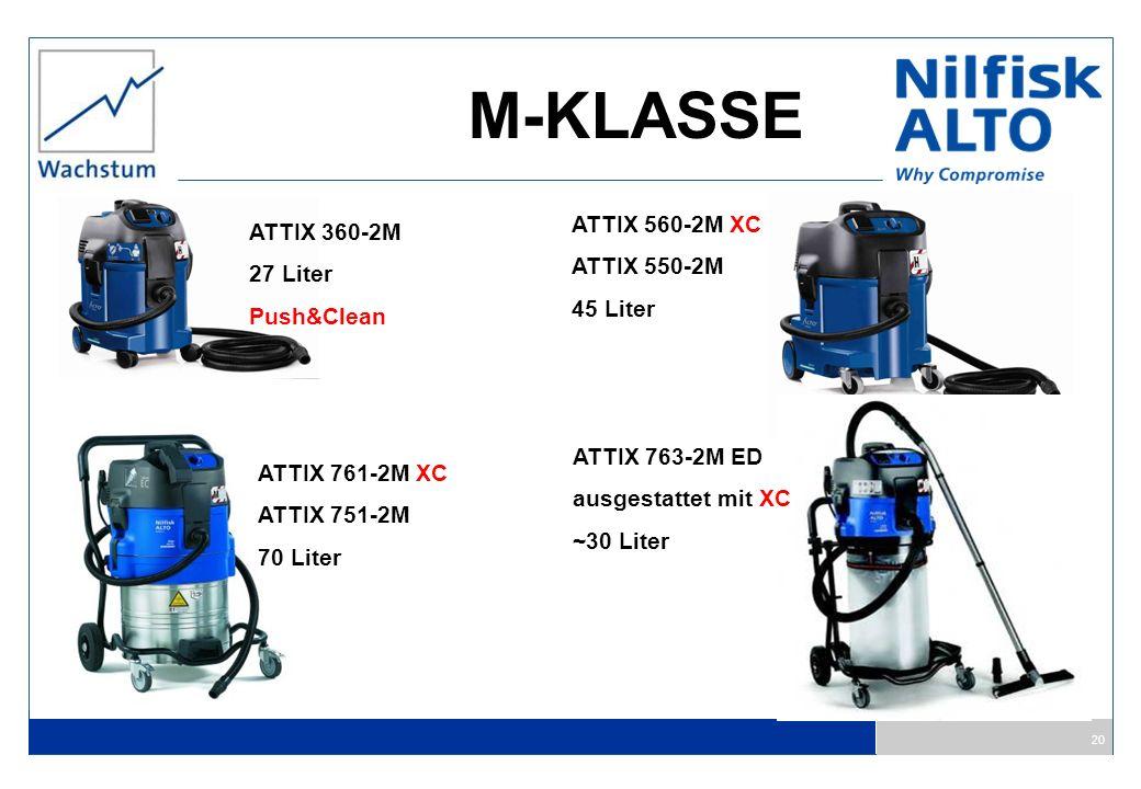 M-KLASSE ATTIX 560-2M XC ATTIX 360-2M ATTIX 550-2M 27 Liter 45 Liter