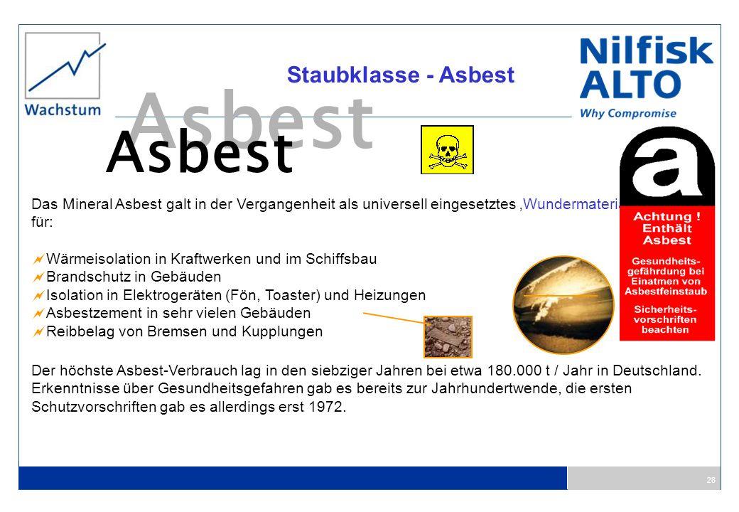 Asbest Staubklasse - Asbest