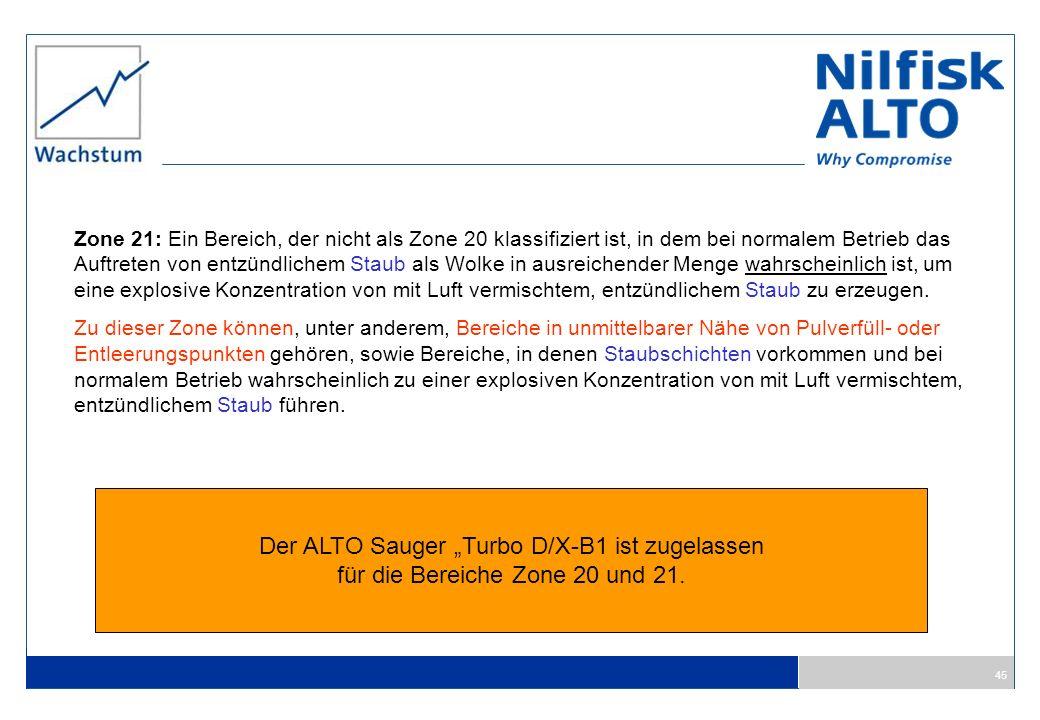 "Der ALTO Sauger ""Turbo D/X-B1 ist zugelassen"