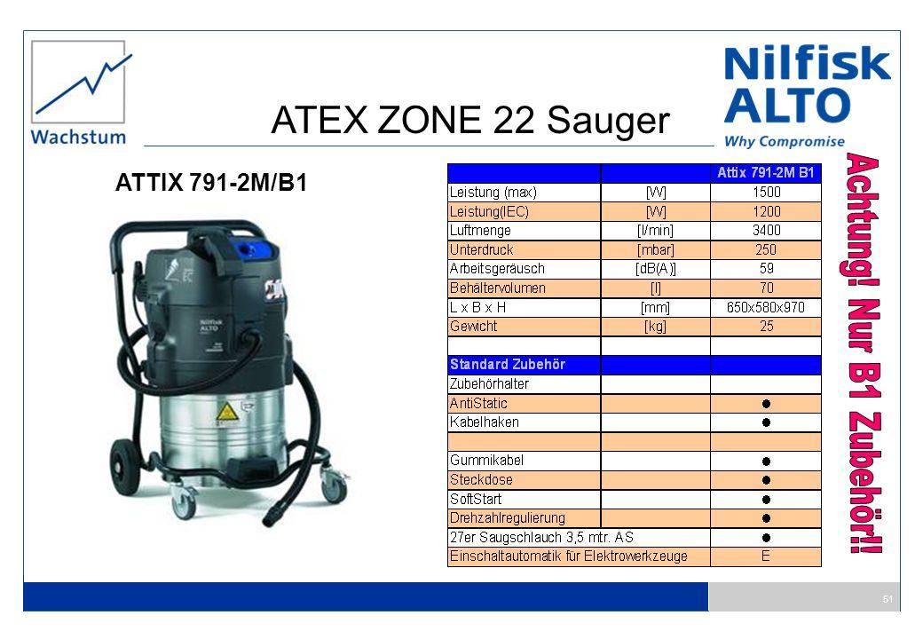 ATEX ZONE 22 Sauger ATTIX 791-2M/B1 Achtung! Nur B1 Zubehör!!