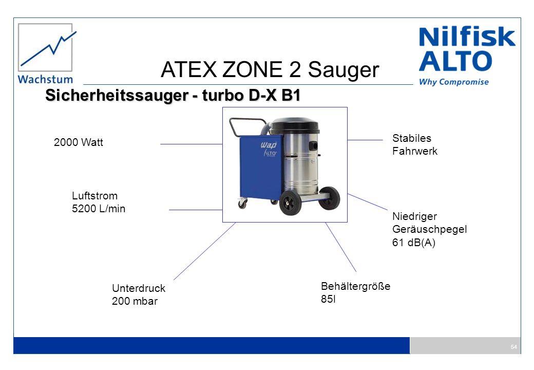 ATEX ZONE 2 Sauger Sicherheitssauger - turbo D-X B1 Stabiles 2000 Watt
