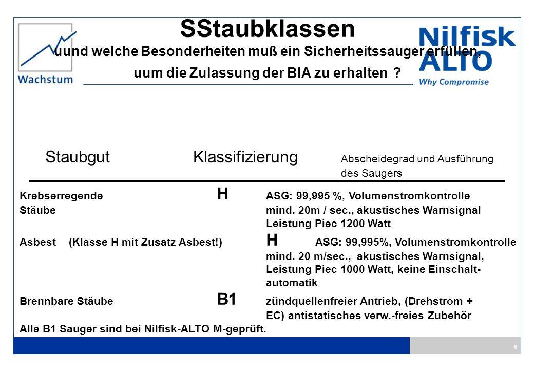 SStaubklassen Staubgut Klassifizierung Abscheidegrad und Ausführung