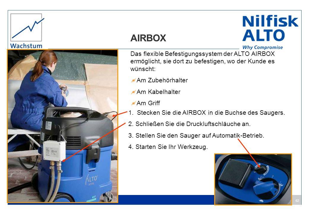 AIRBOX Das flexible Befestigungssystem der ALTO AIRBOX ermöglicht, sie dort zu befestigen, wo der Kunde es wünscht: