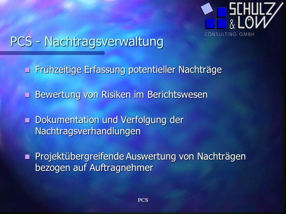 PCS - Nachtragsverwaltung