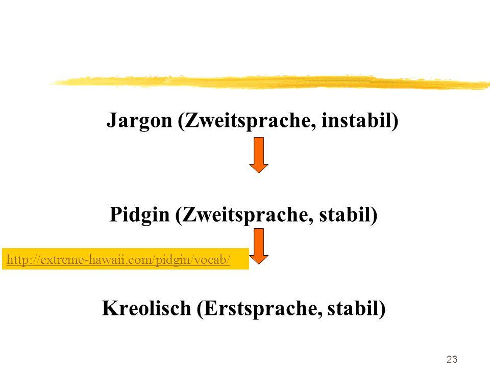 Jargon (Zweitsprache, instabil)