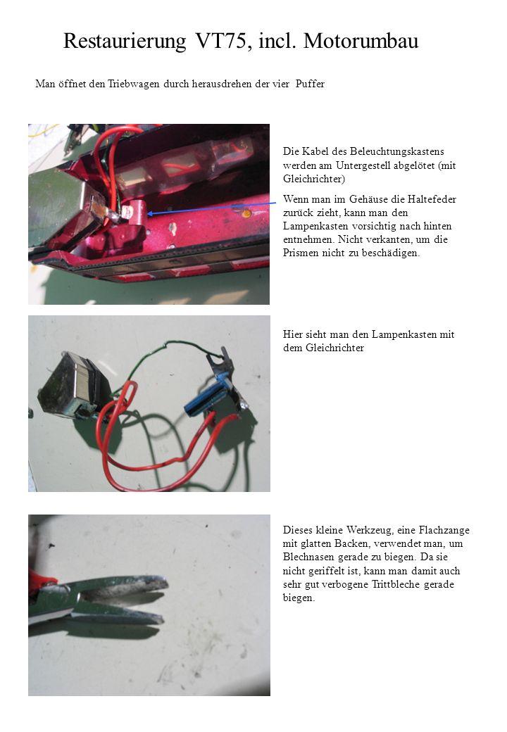 Restaurierung VT75, incl. Motorumbau