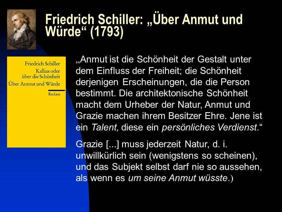 """Friedrich Schiller: """"Über Anmut und Würde (1793)"""
