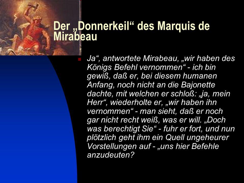 """Der """"Donnerkeil des Marquis de Mirabeau"""