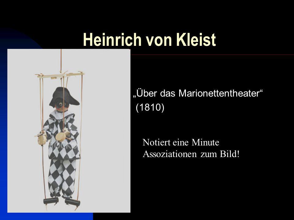 """""""Über das Marionettentheater (1810)"""
