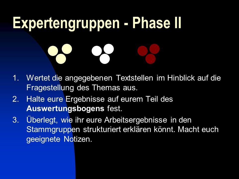 Expertengruppen - Phase II