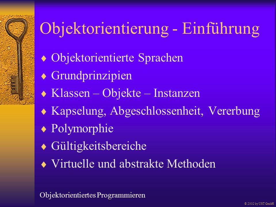 Objektorientierung - Einführung