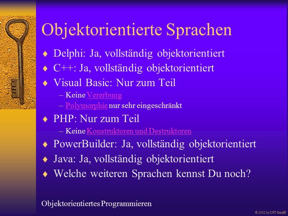 Objektorientierte Sprachen