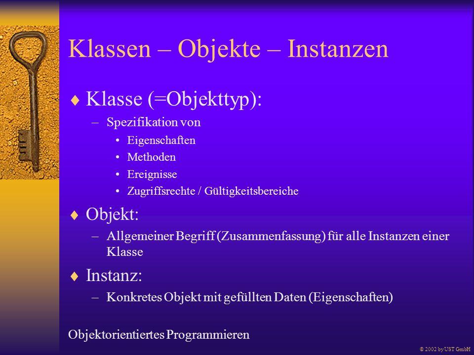 Klassen – Objekte – Instanzen
