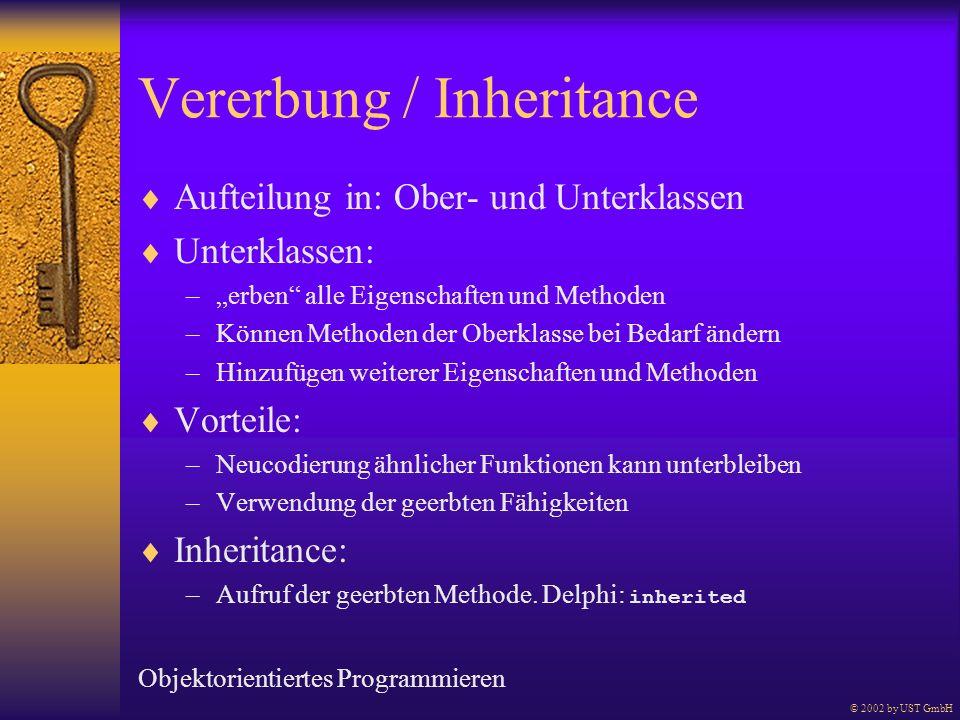 Vererbung / Inheritance