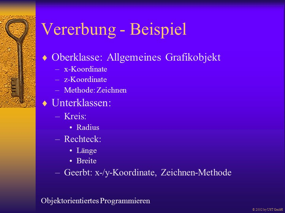 Vererbung - Beispiel Oberklasse: Allgemeines Grafikobjekt