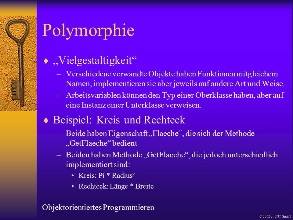 """Polymorphie """"Vielgestaltigkeit Beispiel: Kreis und Rechteck"""