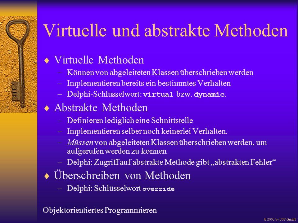 Virtuelle und abstrakte Methoden