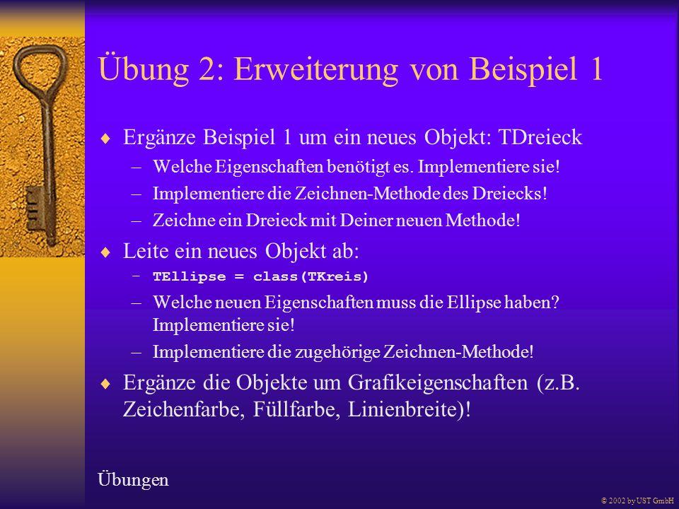 Übung 2: Erweiterung von Beispiel 1