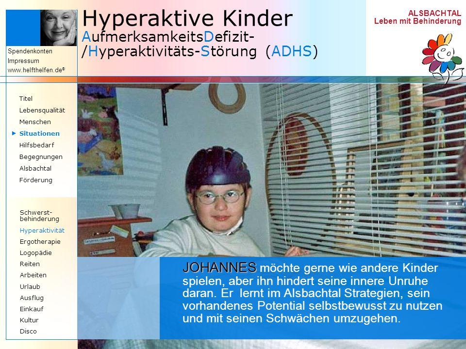 Hyperaktive Kinder AufmerksamkeitsDefizit-/Hyperaktivitäts-Störung (ADHS)