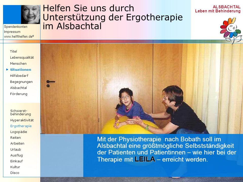 Helfen Sie uns durch Unterstützung der Ergotherapie im Alsbachtal