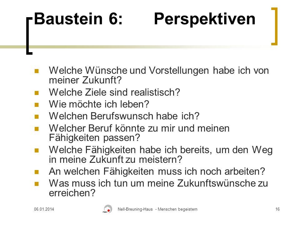 Baustein 6: Perspektiven
