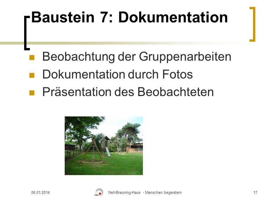 Baustein 7: Dokumentation