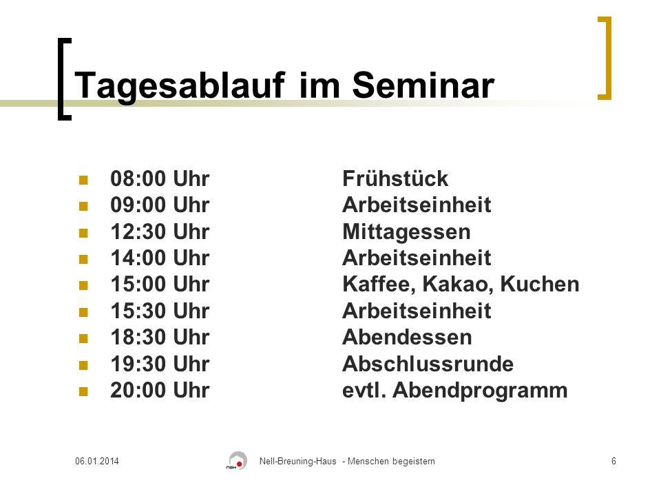 Tagesablauf im Seminar