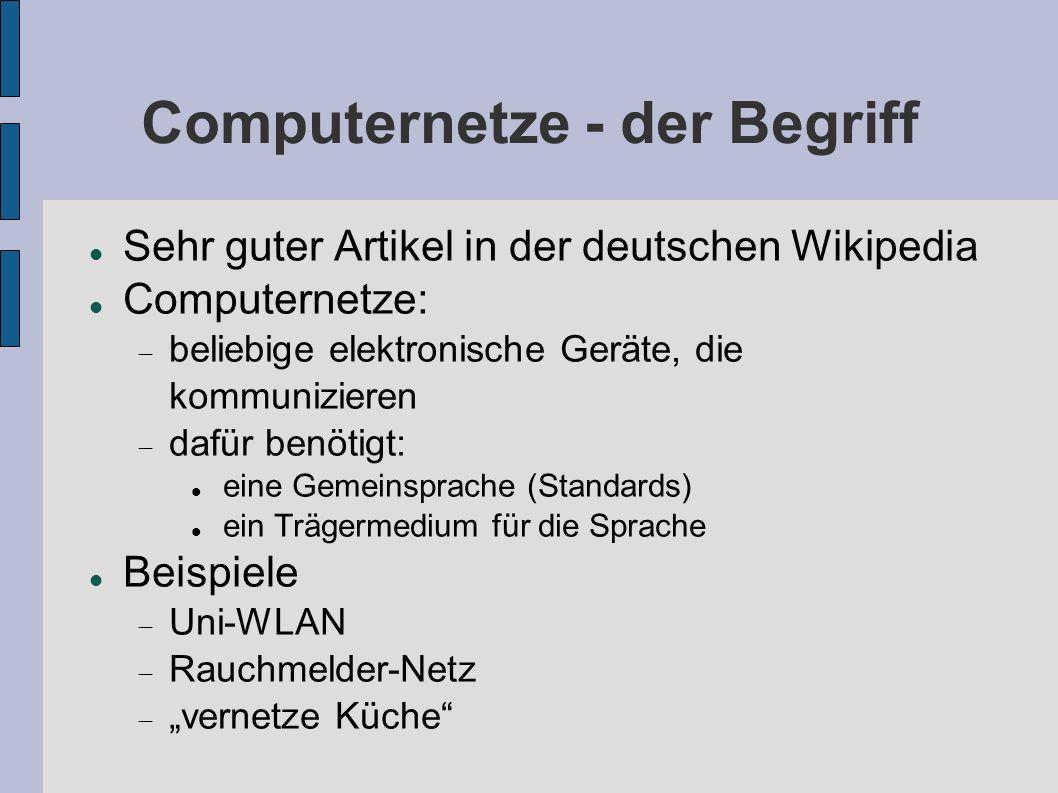 Computernetze - der Begriff