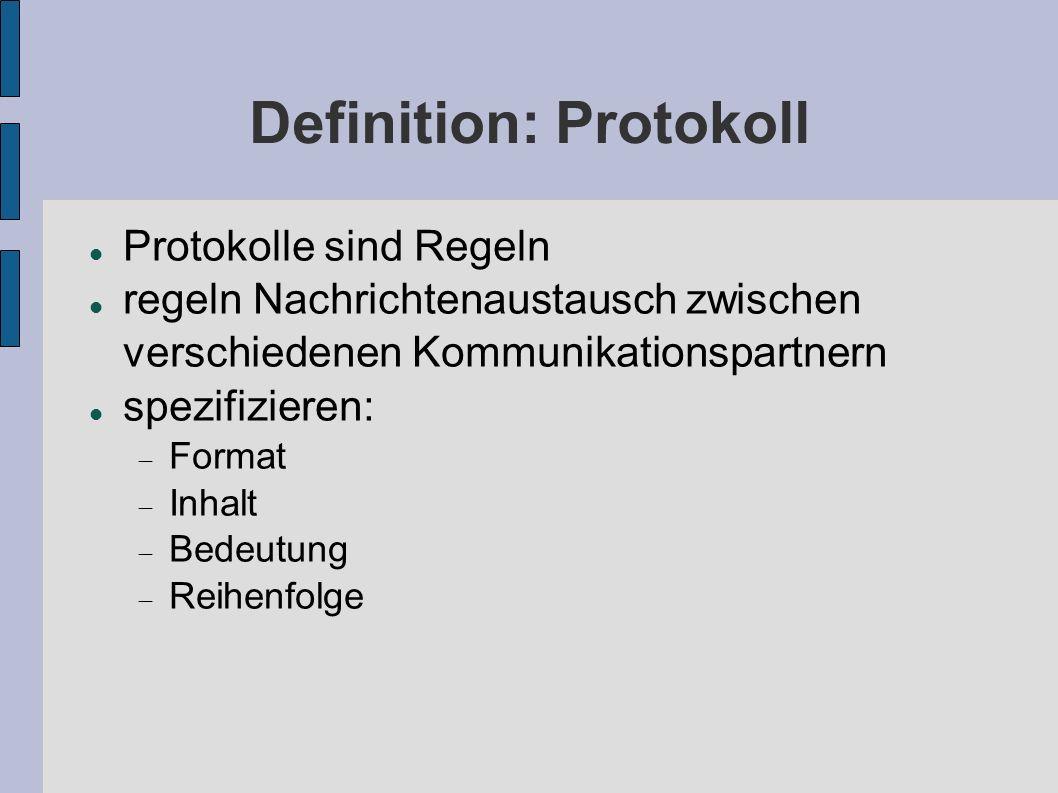 Definition: Protokoll