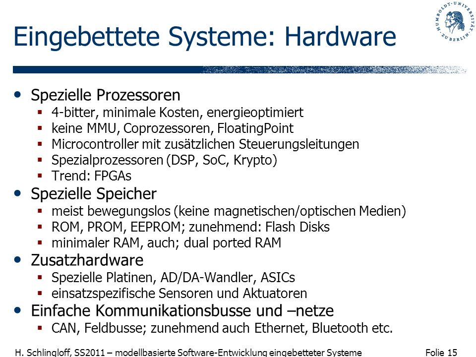 Eingebettete Systeme: Hardware