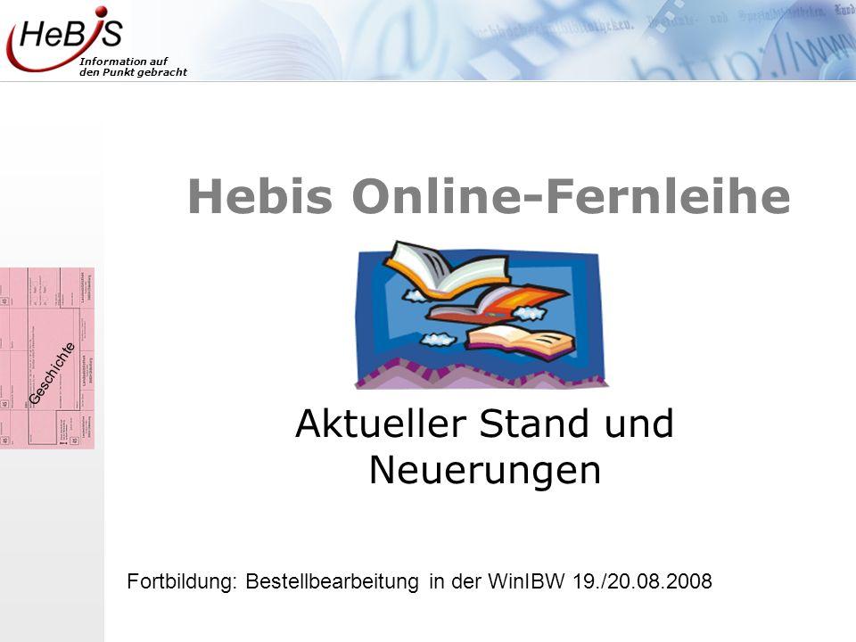 Hebis Online-Fernleihe