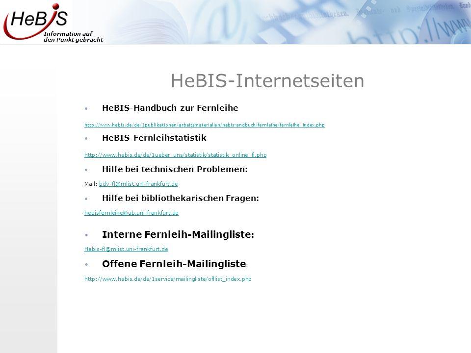 HeBIS-Internetseiten
