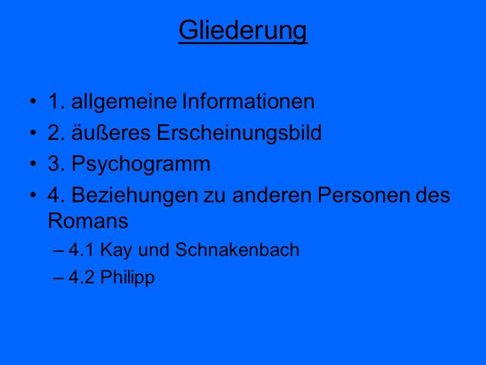 Gliederung 1. allgemeine Informationen 2. äußeres Erscheinungsbild