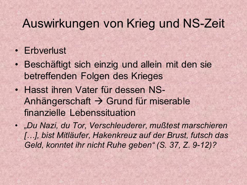Auswirkungen von Krieg und NS-Zeit