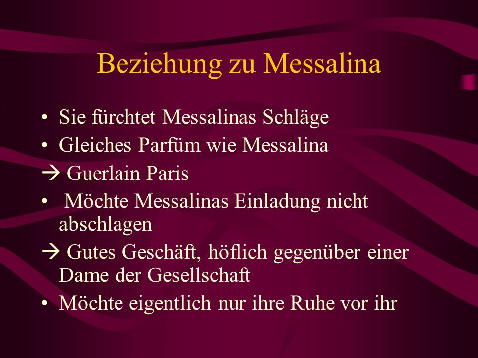 Beziehung zu Messalina